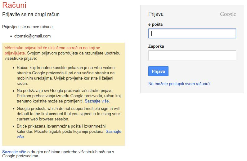 gmail login prijava